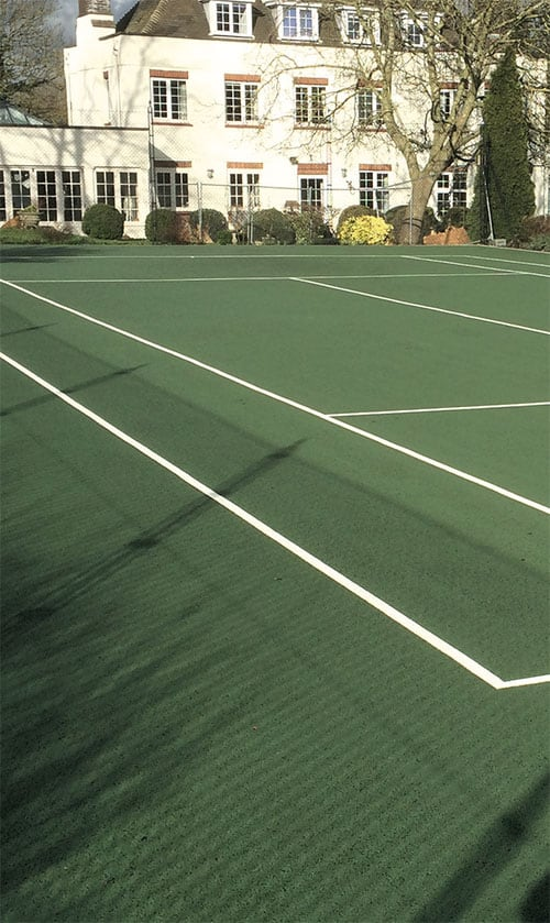 Tennis court cleaning by AMSS