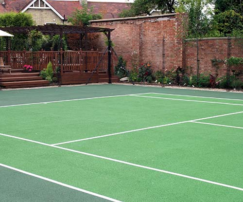 Matchplay tennis court surface - built by AMSS