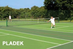 Pladek tennis court surface built by AMSS tennis courts