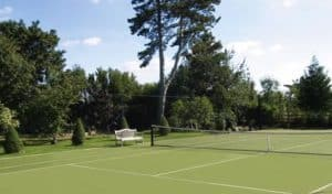 Tennis court built in Sporturf by AMSS